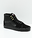 Vans x Marvel Sk8-Hi Black Panther Black & Gold Skate Shoes