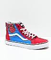 Vans x Marvel Sk8-Hi Spider-Man zapatos de skate para niños