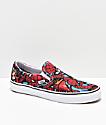 Vans x Marvel Slip On Spiderman Red & Blue Shoes