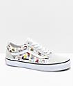 Vans x Peanuts Old Skool Multi-Colored & White Skate Shoes