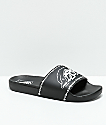 Vans x Sketchy Tank Black & White Slide Sandals