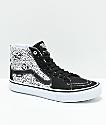 Vans x Sketchy Tank Sk8-Hi Pro Reflective Black & White Skate Shoes