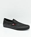 Vans x Sketchy Tank Slip-On Pro zapatos de skate negros reflectantes