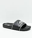 Vans x Sketchy Tank sandalias negras y blancas