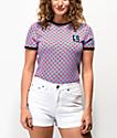 Vans x T&C Surf Designs Pink Checkerboard Ringer T-Shirt