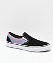 Vans x T&C Surf Designs Slip-On Black, Pink & Blue Checkerboard Skate Shoes