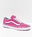 Vans zapatos de skate en rosa y blanco