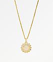 Veritas Flooded 2 Gold Pendant Necklace