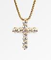 Veritas Romulus Cross collar de oro amarillo 24kt