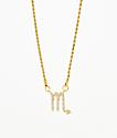 Vesso collar de oro de escorpio para mujer