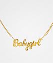 VidaKush Babygirl Nameplate Gold Choker Necklace