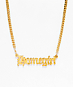 VidaKush Homegirl Nameplate Gold Choker Necklace