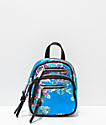 Violet Ray Kimono Blue Convertible Mini Backpack