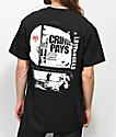 Vitriol x Robert LeBlanc Crime Pays Black T-Shirt