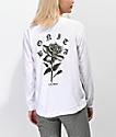 Viva La Bonita Rose From Concrete White Long Sleeve T-Shirt