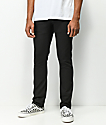 Volcom 2x4 Black On Black Denim Skinny Jeans