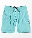 Volcom BNB shorts de baño en color menta