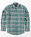 Volcom Boys Caden Evergreen Woven Flannel Shirt