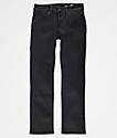 Volcom Boys Vorta Slim Straight Black Jeans