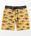 Volcom Burch Stoneys Yellow Board Shorts