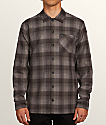 Volcom Flanders Black Plaid Flannel Shirt