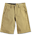 Volcom Frickin Dark Khaki Boys Chino Shorts