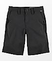Volcom Frickin Static shorts híbridos en negro para niños