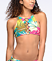 Volcom Hot Tropic Crop High Neck Bikini Top