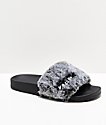 Volcom Lil Slide Heather Grey Slide Sandals