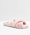 Volcom Lil Slip sandalias de peluche rosa