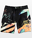 "Volcom Mod Explosion 19"" Orange & Black Board Shorts"