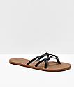 Volcom New School Black Strappy Sandals