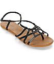 Volcom No Sweat Black Sandals