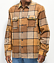 Volcom Randower Khaki & Gold Flannel Shirt