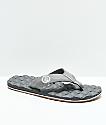 Volcom Recliner sandalias en gris y goma