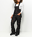 Volcom Verdi Black Floral 15K Snowboard Bib Pants