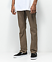 Volcom Vorta 5 Pocket Slub Mud Brown Slim Fit Jeans
