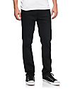 Volcom Vorta Black On Black S Gene jeans ceñidos