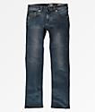 Volcom Vorta jeans para niños con lavado azul
