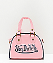 Von Dutch Light Pink Bowling Bag Purse