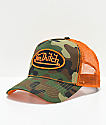 Von Dutch gorra trucker en color naranja y camuflaje