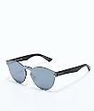 VonZipper Alt Ditty Black Leather Silver Chrome Sunglasses