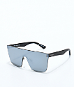 VonZipper Alt Donmega Black Leather Silver Chrome Sunglasses