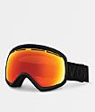 VonZipper Skylab Black Satin Fire Chrome Snowboard Goggles 2018