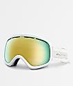 VonZipper Skylab White Satin Gold Chrome Snowboard Goggles