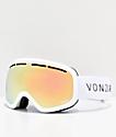 VonZipper Skylab gafas de snowboard de cromo oro y blanco