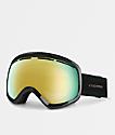 VonZipper Skylab gafas de snowboard en negro satinado y cromo dorado