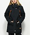 Wear Colour Range Black Parka Snowboard Jacket