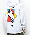 Welcome Faces White Hoodie