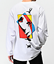 Welcome Faces White Long Sleeve T-Shirt